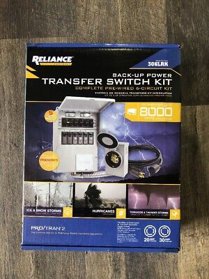 (90033) Reliance Controls 306LRK 6-Circuit Back-Up Power Transfer Switch Kit