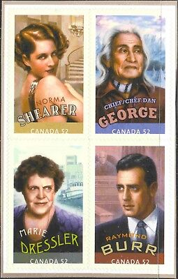 2008 Canada #2280a-d Complete Self Adhesive Booklet Pane of 4 Cdns. in Hollywood