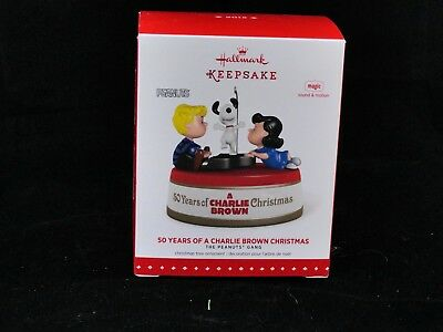 """Hallmark """"50 Years of Charlie Brown Christmas"""" Ornament  2015 Snoopy Lucy"""