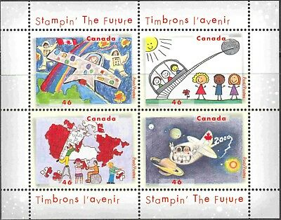 2000 Canada #1862b Mint Never Hinged Souvenir Sheet of Children's Drawings