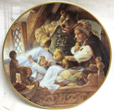 Knowles Goldilocks & 3 Bears Collector Plate, Classic Fairy Tales Series