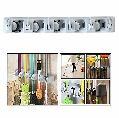 Gearmax Wall Mounted Brush Broom and Mop Holder  Magic Holder Storage Tidy Org