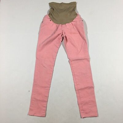 Jessica Simpson Maternity Size S Pink Skinny Full Belly Panel Jeans D0