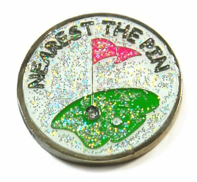 Navika Nearest the Pin Glitzy Ball Marker with Hat Clip
