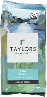 Taylors of Harrogate Fairtrade Organic Fika Ground Coffee, 227g Pack of 6