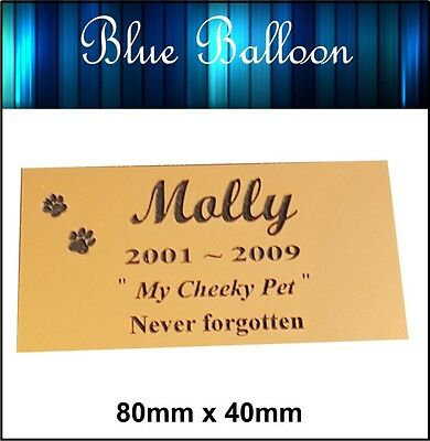 Weatherproof Pet Memorial Plaque , Dog .Cat Bird...- Engraved. Personalised