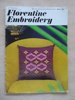 Florentine Embroidery Patterns~Coats #1069~1968~43pp P/B