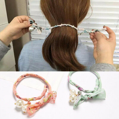 Women Donuts Twist Headband DIY Hairstyle Tool Magic Hair Bun Maker Hair Band