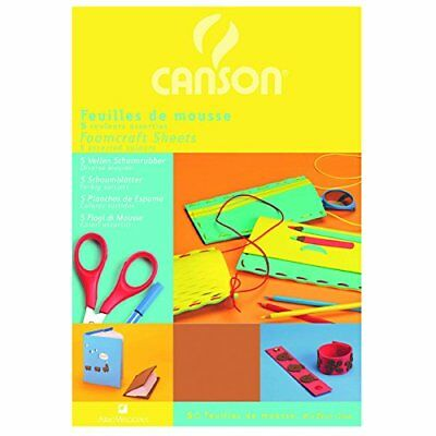 Canson 20 x 29 cm Coloured Foam Pack of 5 Sheets