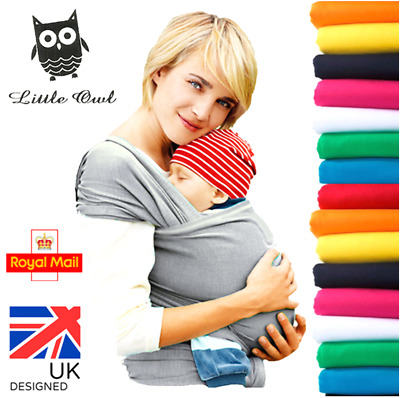 BABY WRAP CARRIER SLING STRETCHY - Breastfeeding - MANY COLOURS!!!
