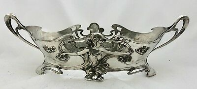 fabulous  large wmf pewter art nouveau maiden centrepiece fully signed
