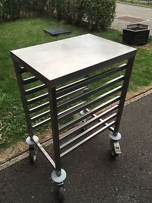 Stainless Steel Tray Table Trolley On Wheels 51 00