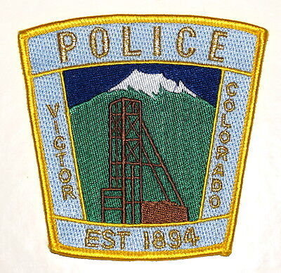 VICTOR COLORADO CO Sheriff Police Patch MOUNTAIN MINE SHAFT TOWER ~