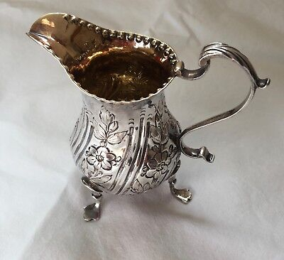 Georgian George III Solid silver jug London 1776 Charles Wright antique