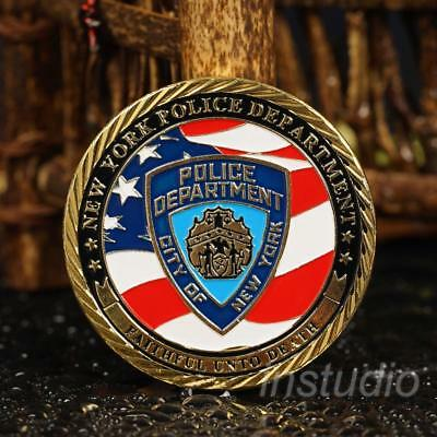 1Pc New York Police Alloy Commemorative Coin Craft Collection Gift generieren