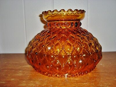 Vintage 7 quilted amber ruffled oil lamp shade 1499 picclick vintage 7 quilted amber ruffled oil lamp shade aloadofball Images
