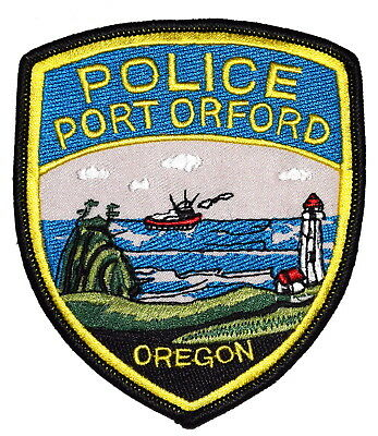 PORT ORFORD OREGON OR Sheriff Police Patch FISHING BOAT LIGHTHOUSE ~