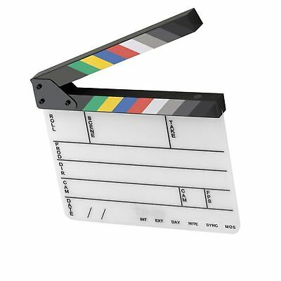 Elvid 9-Section Acrylic Dry Erase Production Slate [Clapboard] with Color...