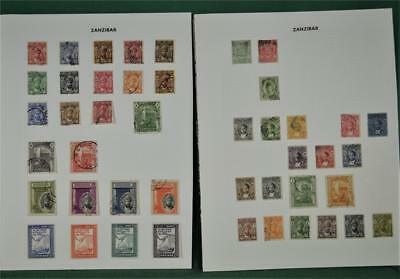 Zanzibar 2 Pages  Stamps  H/m & Used  (N7)