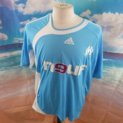 "Olympique de Marseille 2006 Football Shirt. 24"" pit-to-pit, 30"" length, 2XL"