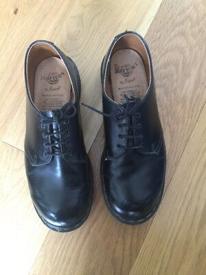 dr martens UK 7 Black Shoes Made In England 4 Eyes Unisex