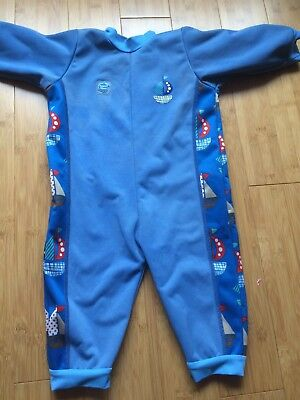 Splash About Warm In One Swimsuit Wetsuit Blue Size XL 1-2 Years