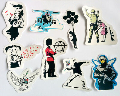 Banksy Aufkleber Set Vinyl Sticker Decal Graffiti Auto Tuning Motorrad Anarchie