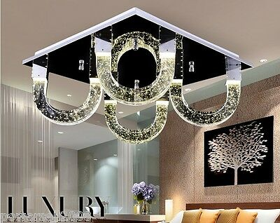 Modern Simplicity Style LED Lenght 45CM Stainless Steel+K9 Crystal Ceiling Light