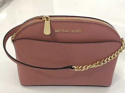 0f42a1360472 NWT MICHAEL KORS Emmy Medium Cindy Dome Crossbody In Rose Pink ...
