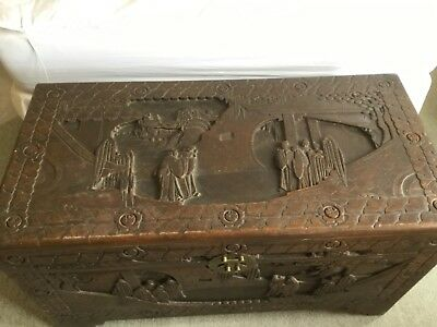 Antique camphor wood chest/ trunk