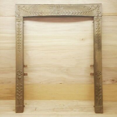 Antique Cast Iron Fireplace Surround Vinttage Rustic Home Decor