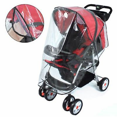 Universal Transparent Rain Cover Baby Buggy Pushchair Stroller Pram New