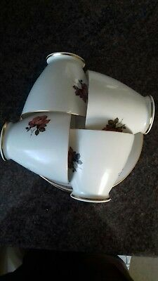 Vintage Bone China Windsor Rose 19 Piece Tea Set. Inc Milk Jug & Sugar Bowl.