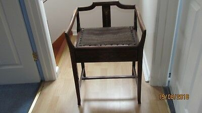Antique Edwardian Piano Stool with storage furniture good condition