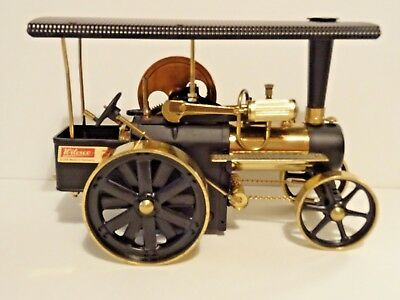 """WILESCO D406 BLACK BRASS STEAM DRIVEN TRACTOR - UNFIRED. """"Nr Mint"""" to """"Mint"""""""