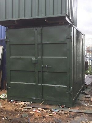 """10'x8'x8'6"""" ex Shipping Container with lock box £650"""