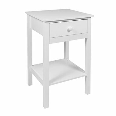 Bedside Drawer With Shelf Cabinet Side Table Storage Unit, Wood, By Woodluv