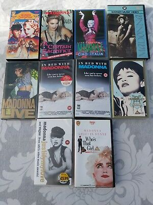 MADONNA 10 VHS Cassette Tape Collection - The Virgin Tour + more