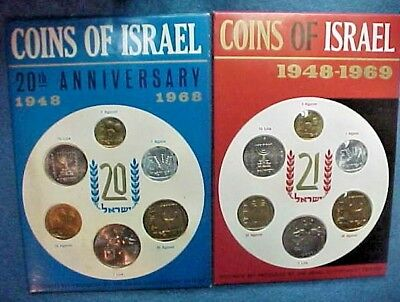 1968,1969 Israel Mint Sets Prestine,Perfect in Every Aspect.Don't Get Any Better