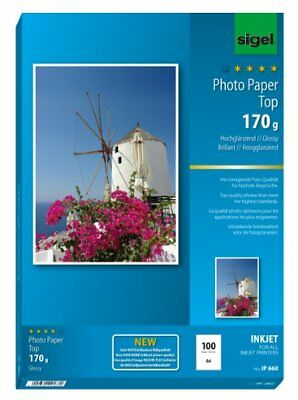 Sigel IP660 InkJet Top Photo Paper, glossy, bright white, 170 gsm, A4, 100 sheet