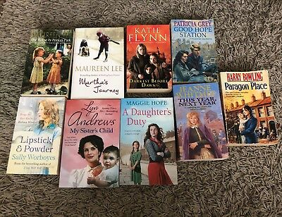 Collection Of 9 Books - Maureen Lee, Katie Flynn, Lyn Andrews, Maggie Hope etc