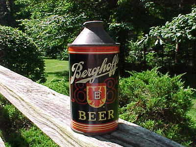 Berghoff 1887 Beer Cone Top Can Nice Condition