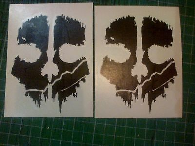 Ghost Call of Duty Skulls 100mm Elite MW3 COD Decal Stickers FREE POST