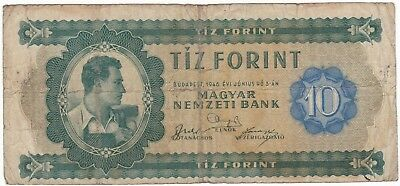 HUNGARY 10 forint 1946 F- key date worker P-159