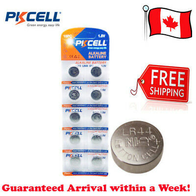 Pack of 10 x PKCELL 1.5V AG13 LR44 G13 A76 Coin Button Cell Alkaline Battery New