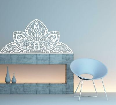 Boho Mandala Om Wall Decal, Lotus Flower Sticker Home Decor, Bohemian Decor s179
