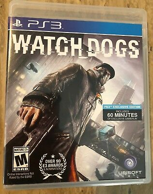 Watch Dogs (Sony PlayStation 3, 2014) - Used in Excellent Condition