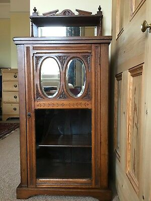 Antique Victorian Walnut Music Cabinet