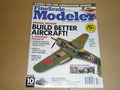 Fine Scale Modeler magazine January 2010 aircraft detailing, airbrushing armour