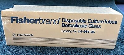 New Fisher Scientific 14-961-26 Disposable Culture Tube Pack Of 250